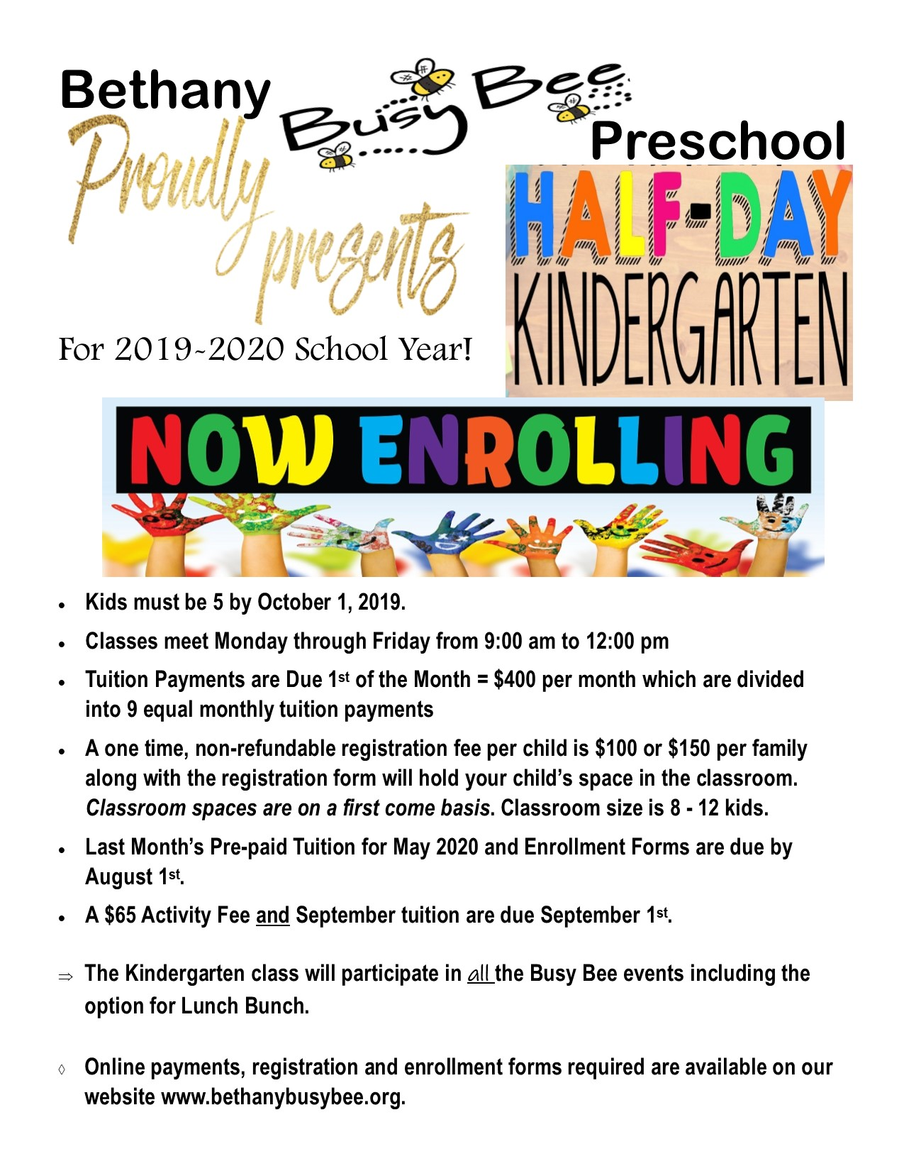 Bethany Busy Bee Preschool | Providing a Balanced Early Childhood